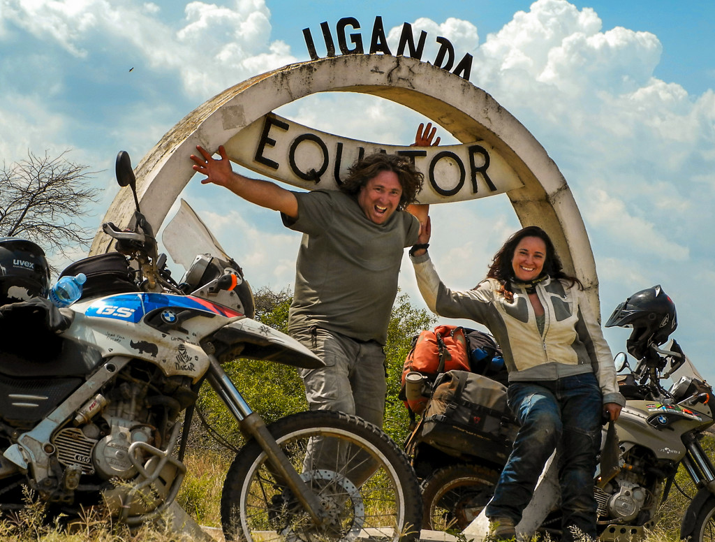 Founders of ATG, Michnus and Elsebie on their african motorcycle adventure